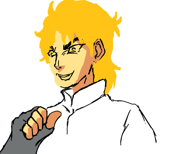 The prompt is about JoJo but Dio derails it