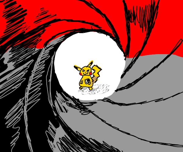 Pikachu acts like James Bond