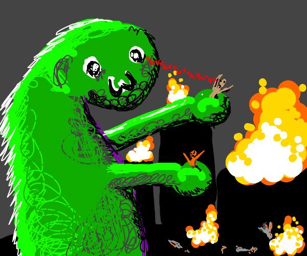 o w o monster is killing everyone!