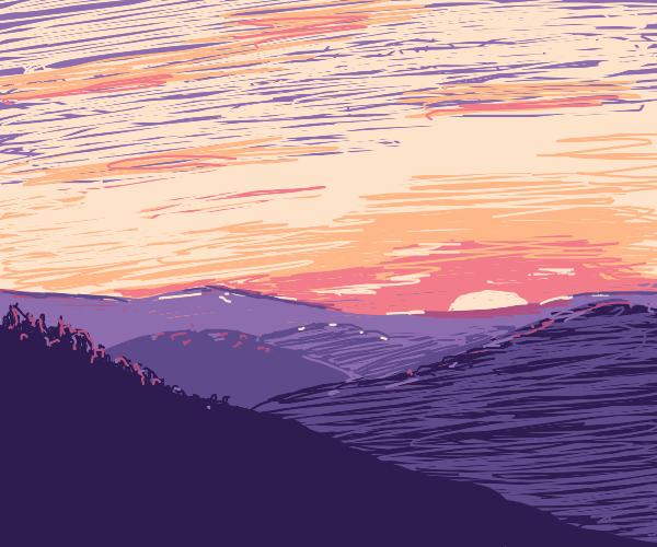 Sunrise over hills