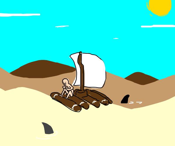 sailing in the desert
