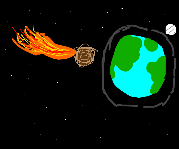 Meteor coming to Earth