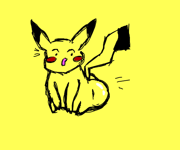 Pikachu's shocked with his big butt