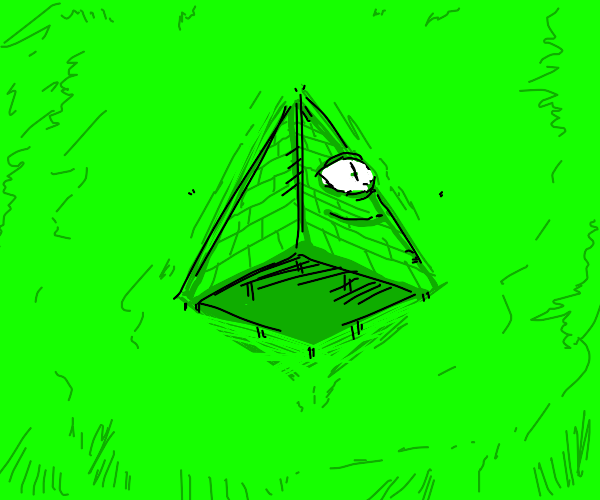 happy green pyramid