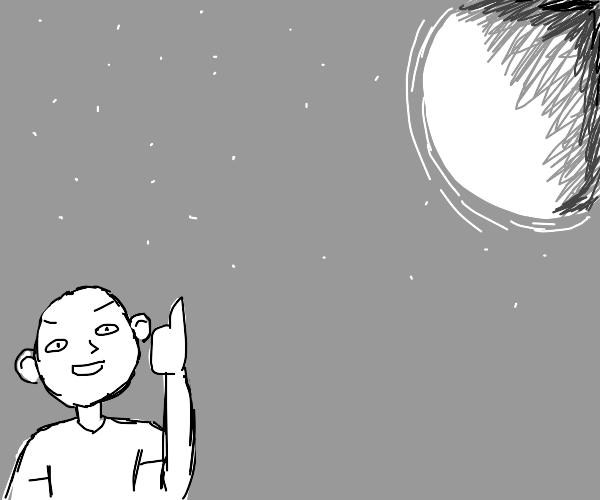 The moon gets a thumbs up from me!