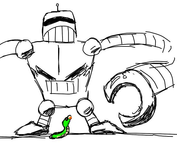 Robot vs caterpillar