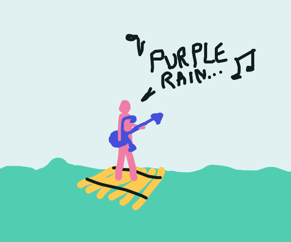 Little Prince on a raft