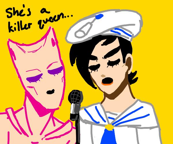 Part8 JoJo and KiraQueen singing Killer Queen