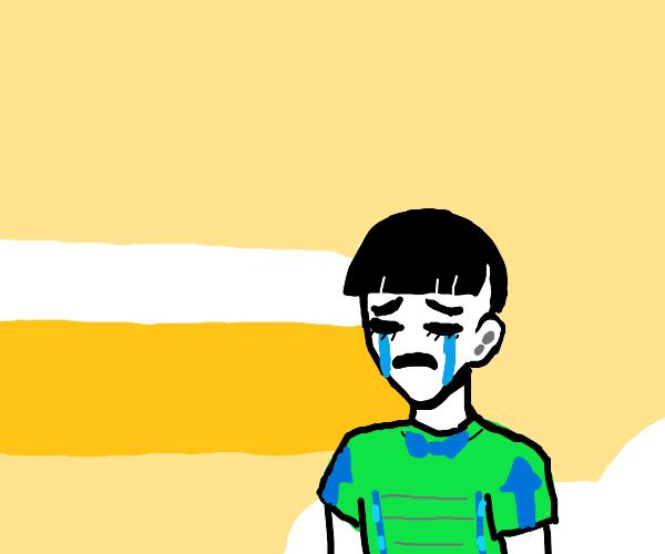 joshu is crying :c