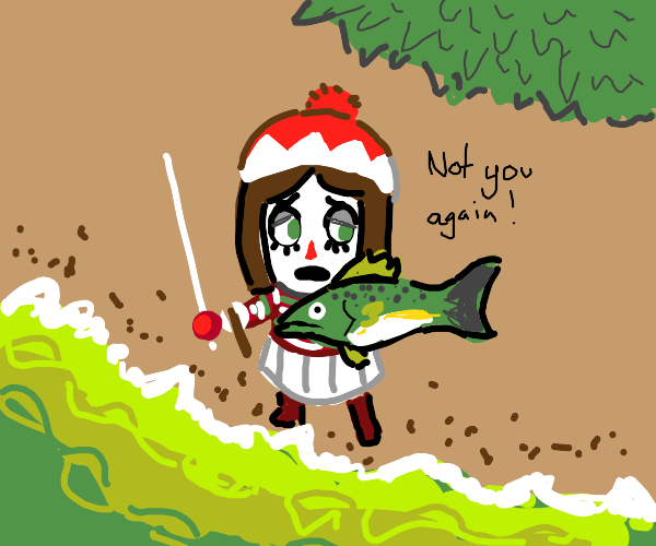 Villager (AC) caught a fish!