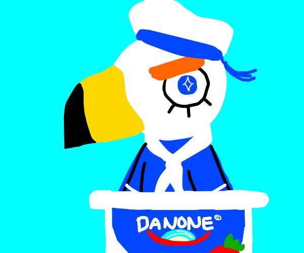 Gulliver in a yogurt cup