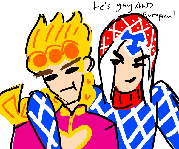 is giorno gay or european