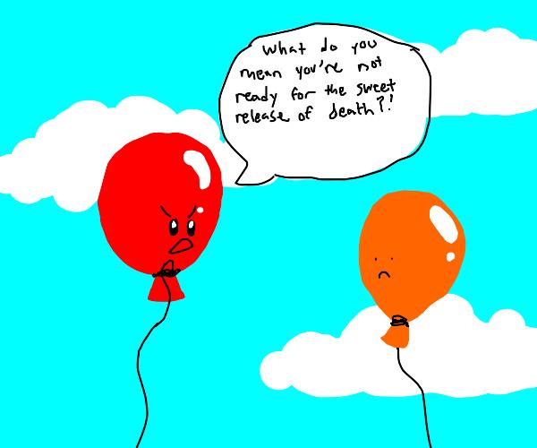 balloon scolds other balloon