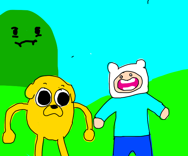 Finn and Jake but... they're a lil off