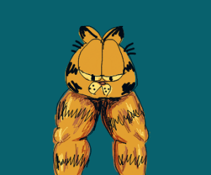 Garfield With Only A Head And Legs Drawception