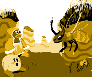 Bee tells Kirby and Dedede to stop