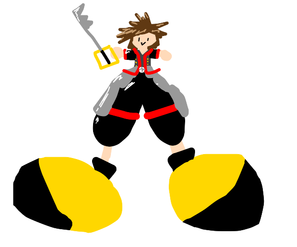 sora's giant yellow shoes but even bigger
