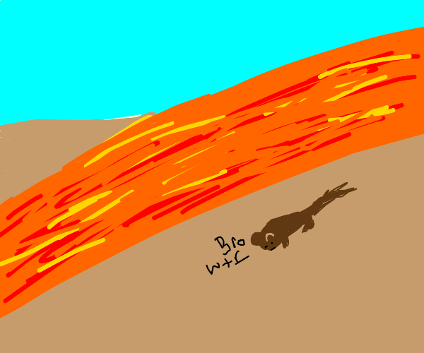 raat by the lava flow