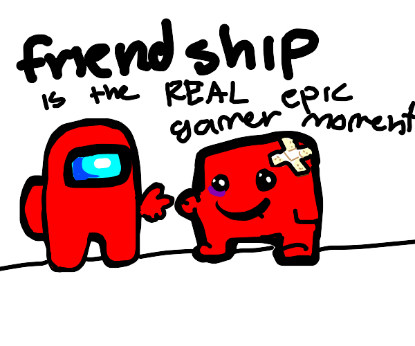 Game friends: among us red and red puzzle pcs