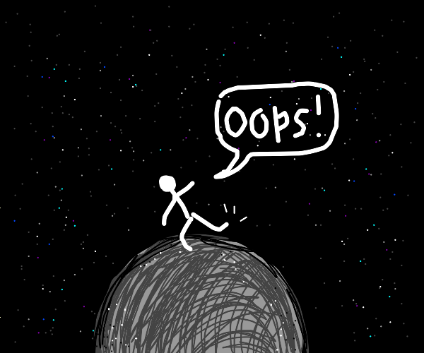 Guy trips on Mercury (planet)