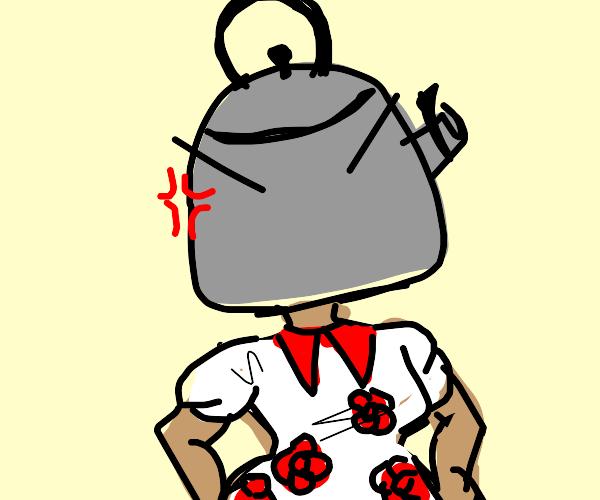 angry kettle girl