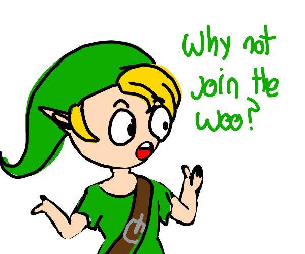 link asks why not join the woo