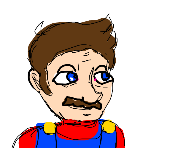 mario but without the hat and human looking