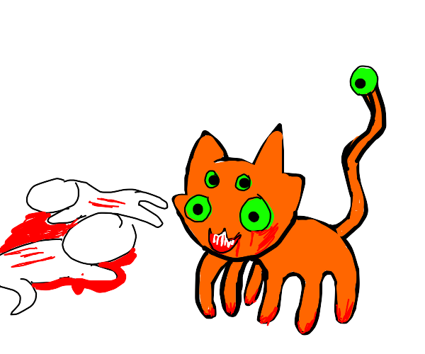 Evil mutant cat