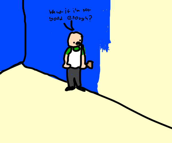 Painter with insecurities