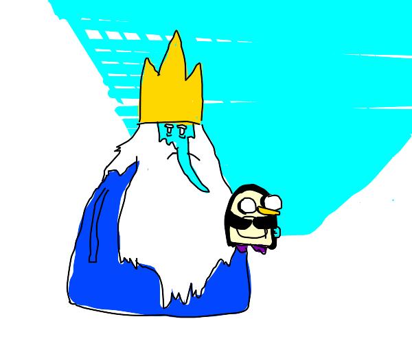 ice king holding gunter
