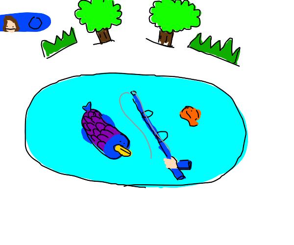 someone fishing