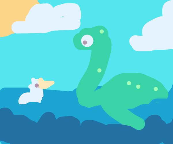 The Loch Ness monster chilling with a bird