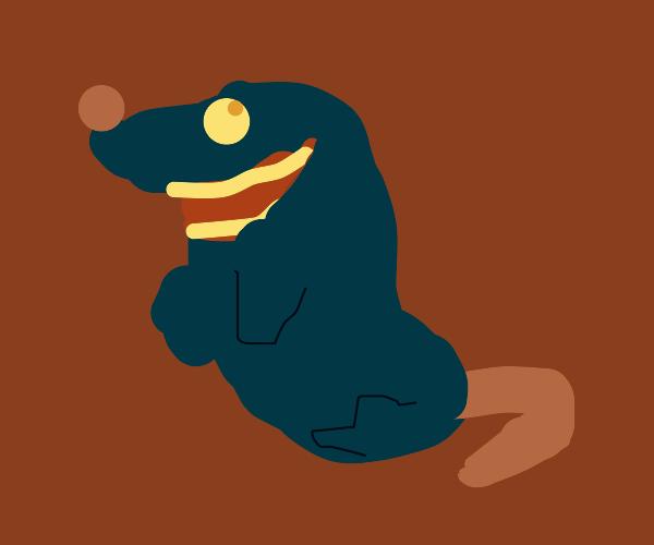 fuzzy grinning rat