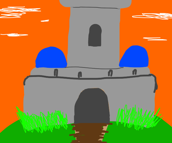 Castle with risky architecture