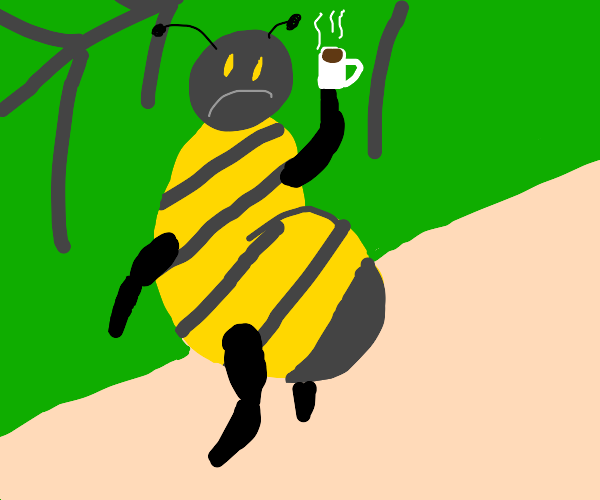 Another day at the office for Mr Bee