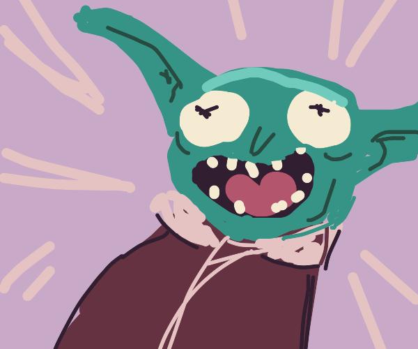 I turned myself into Baby Yoda, Morty!!!!!!!!