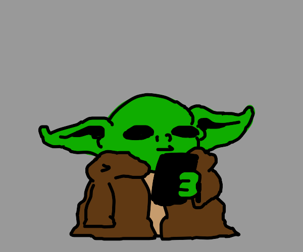 Baby yoda gets a smartphone