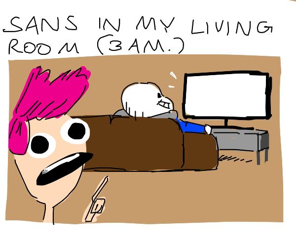 Sans is in my living room     help