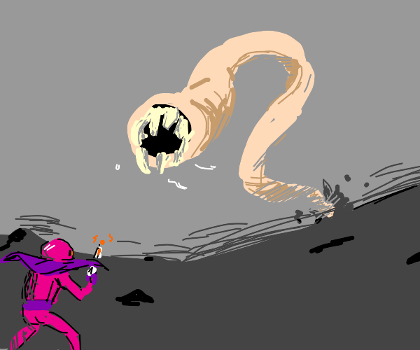 Fight against worm giant