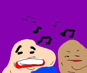 Melting faces sing