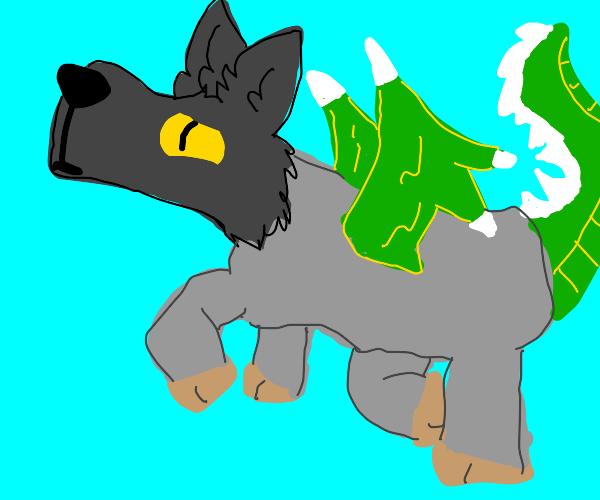 Pegasus Dragon Wolf hybrid