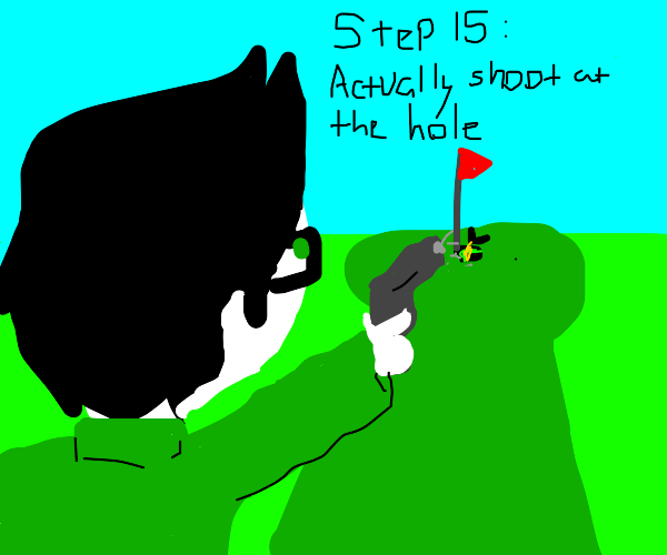 Step 14: Shoot a hole in one