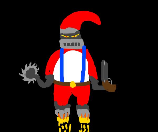 Evil Christmas robot