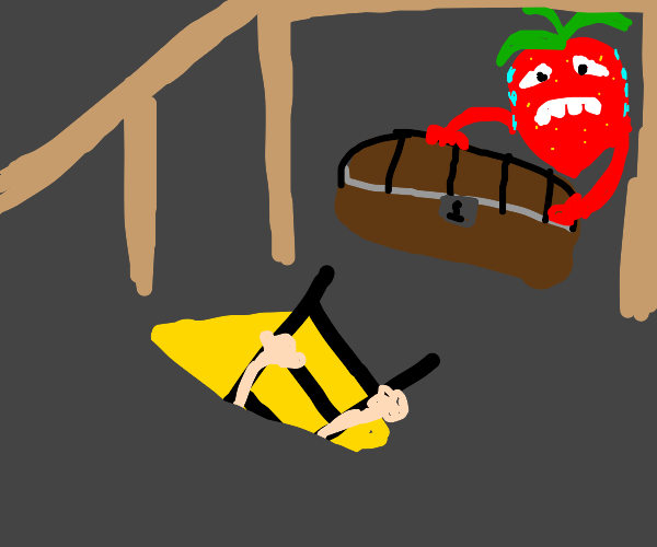 There's a frightened strawberry in the attic