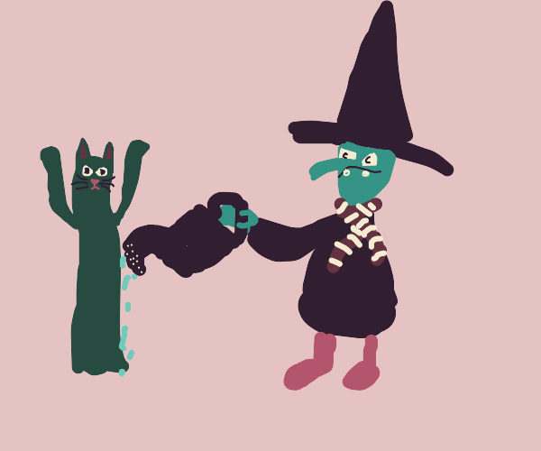 Witch grows Cat-ctus