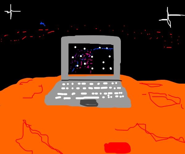 Laptop on Mars