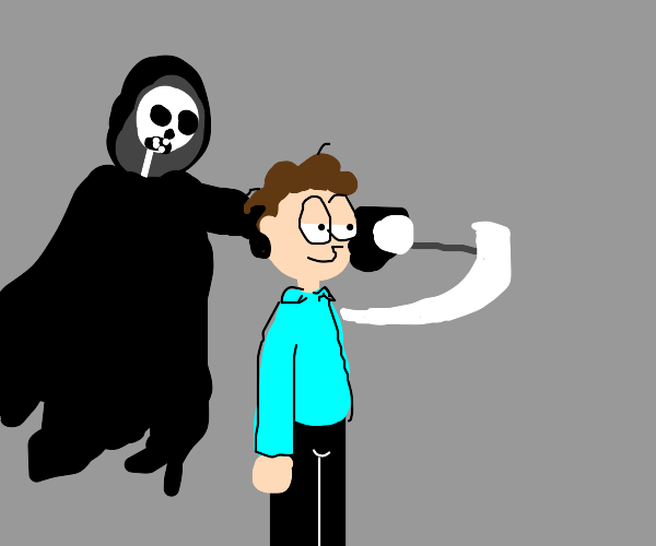 Grim Reaper about to kill Jon Arbuckle