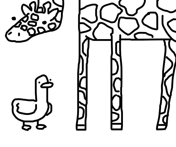 duck and giraffe