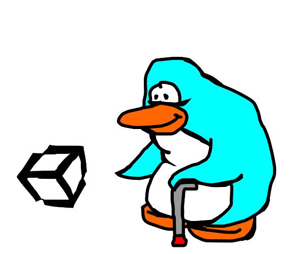 the elder from club penguin found unity logo