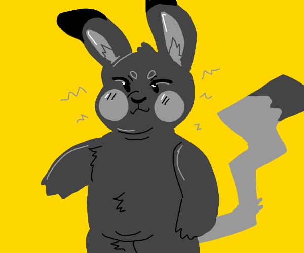 chunky gray pikachu